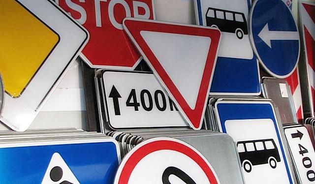 Производство и установка знаков дорожного движения